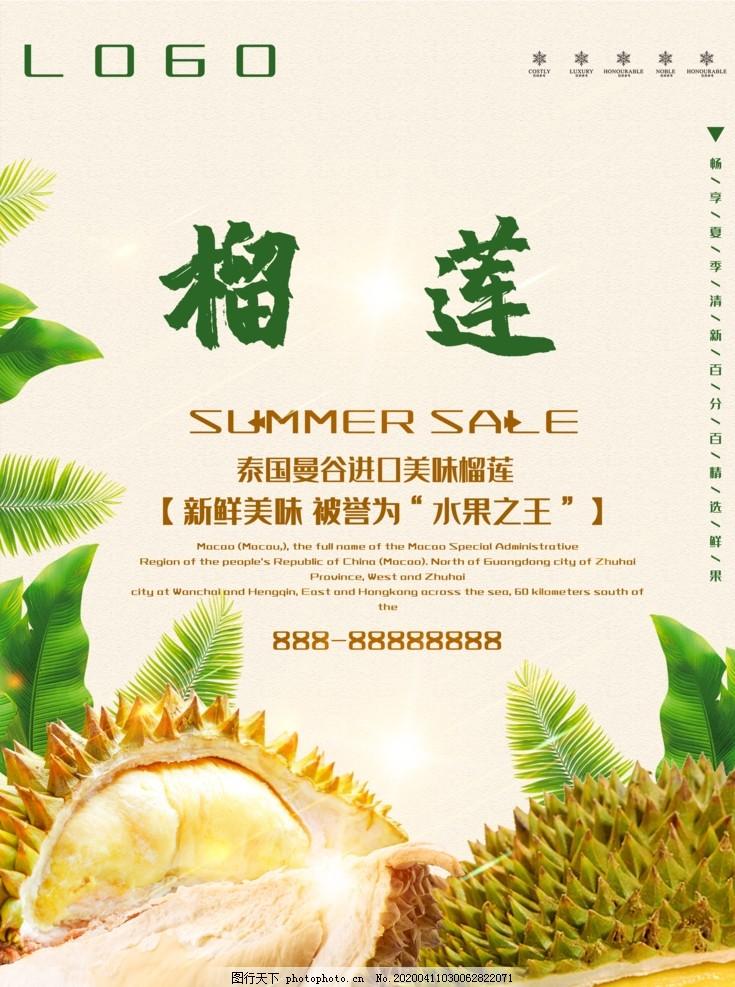 榴莲海报,泰国榴莲,金枕榴莲,进口榴莲,水果,新鲜水果,水果海报