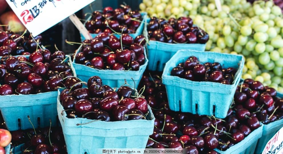 樱桃车厘子浆果,大樱桃,柿果,红樱桃,山东樱桃,烟台大樱桃,进口