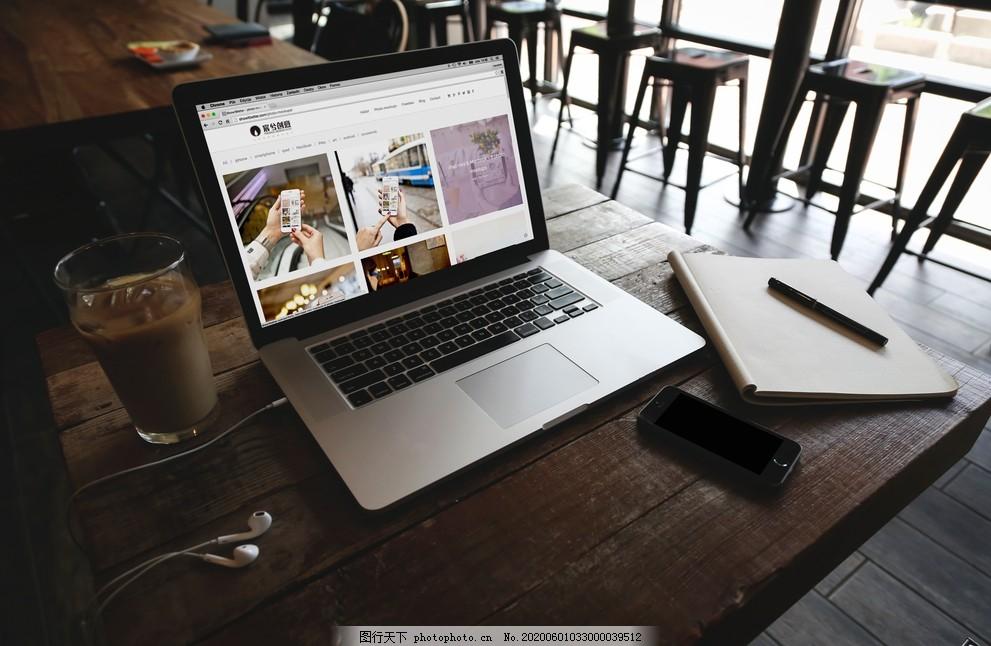 筆記本樣機,電腦樣機素材,筆記本電腦,電腦桌,綠植,桌面盆栽,手機樣機