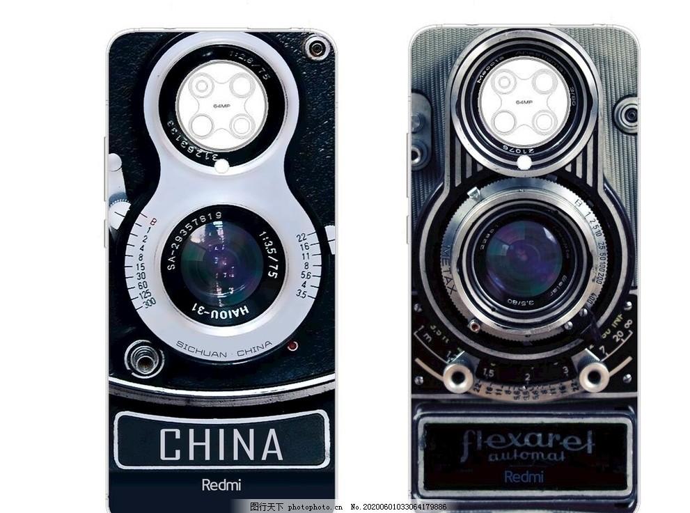 紅米K30pro手機殼,DIY,背殼,復古,相機,照片,攝影圖
